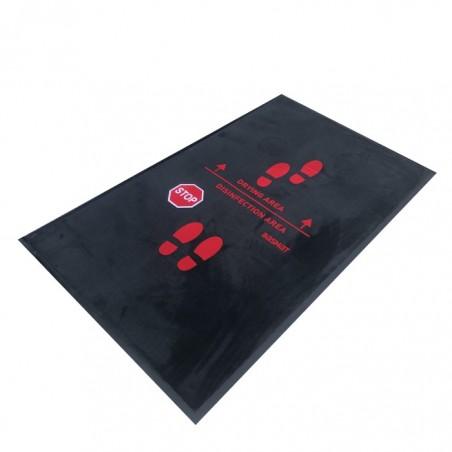 felpudo alfombra desinfectante basmat con área de secado